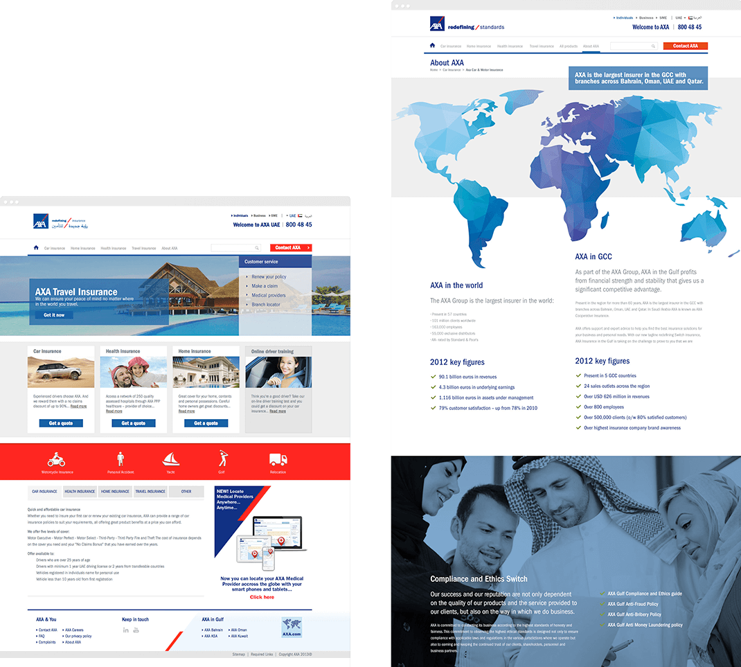 AXA Middle East website