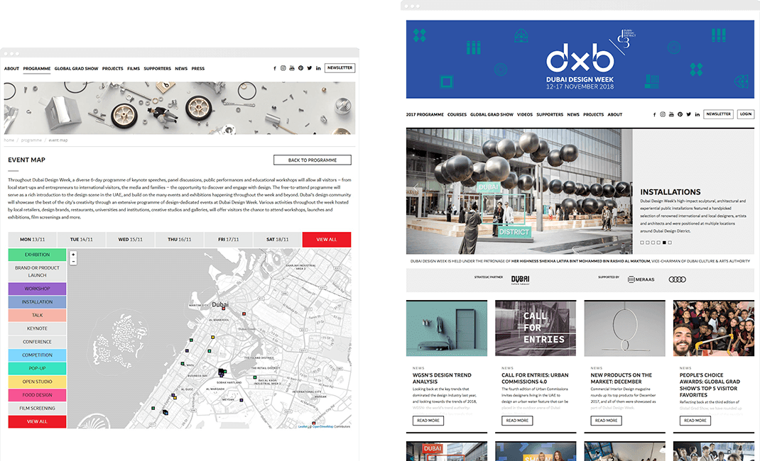 Dubai Design Week Website